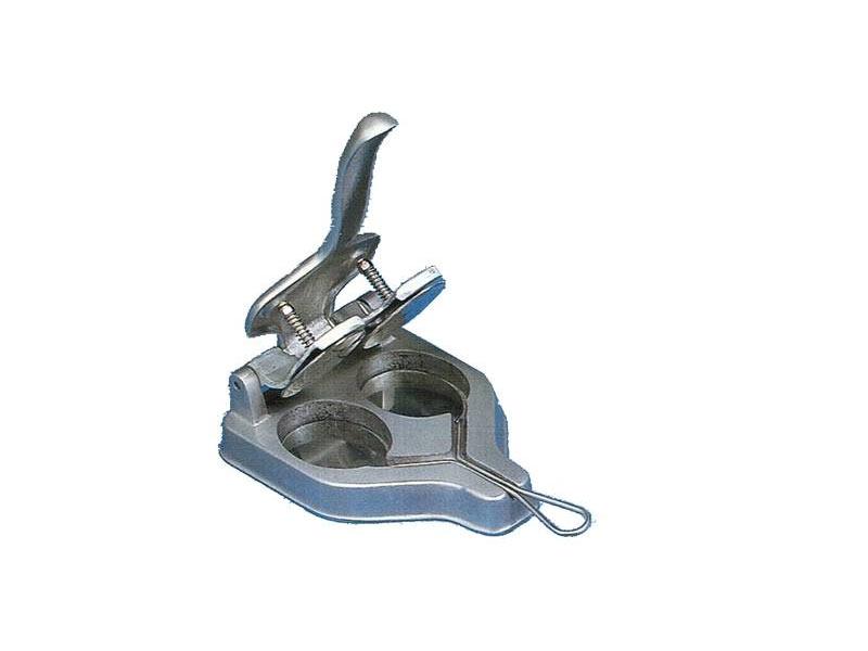 HAMBURGUESERA DOBLE, aluminio / Inox - 18/10